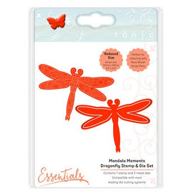 Tonic Stamping stencil + stamp SET: Dragonfly