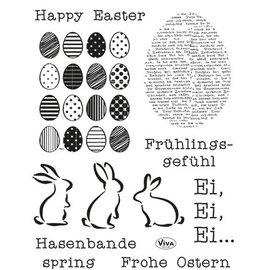 My paperworld (Viva Decor) selos transparentes Happy Easter
