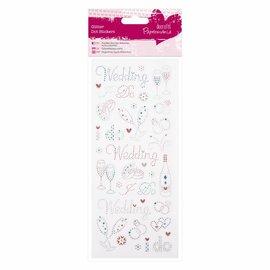 Embellishments / Verzierungen Etiqueta Glitter Dots - casamento
