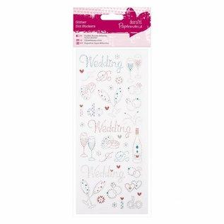 Embellishments / Verzierungen Sticker Glitzerpunkte - Hochzeit