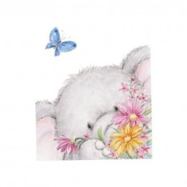 Wild Rose Studio`s Transparent stamps, A7: elephant with butterfly