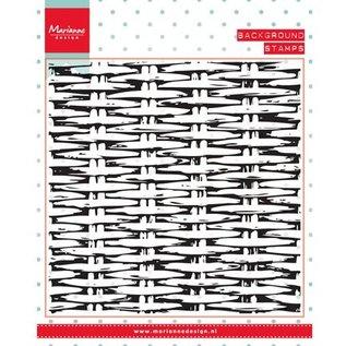 Marianne Design Gennemsigtige frimærker, baggrund: Basket væve