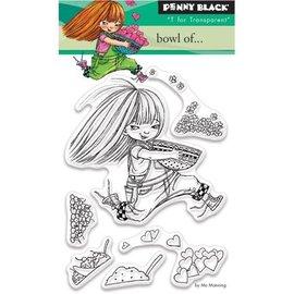 Penny Black selos transparentes, A7: Menina com coração