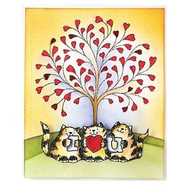 Penny Black sellos transparentes, A7: Gato con amor