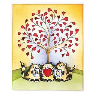Penny Black Gennemsigtige frimærker, A7: Kat med kærlighed