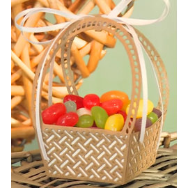 CREATIVE EXPRESSIONS und COUTURE CREATIONS Stamping stencils: Easter basket, also as a basket basket and picknik basket