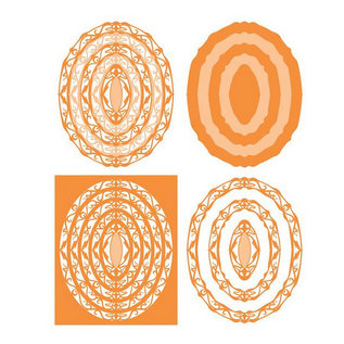 Tonic SET met 10 ponsen template: Gelaagdheid The - Art Nouveau - 207e