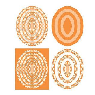 Tonic SET met 10 Stanzschablone: Layering Die - Art Nouveau - 207e