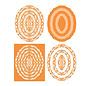 Tonic SET mødte 10 stansning skabelon: Lagdeling The - Art Nouveau - 207e