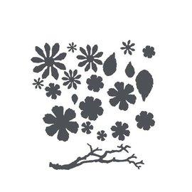 Sizzix Thinits Die Set: Blumen, Blatter und Zweige