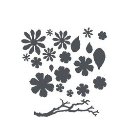 Sizzix Thinits il set: fiori, foglie e rami