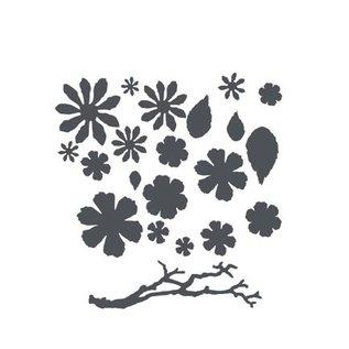 Sizzix Thinits Die Set: Blumen, Blätter und Zweige