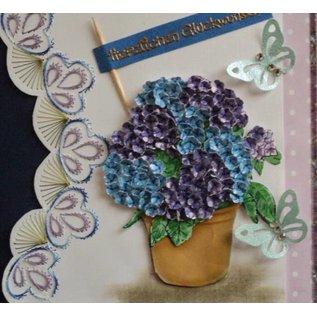 BASTELZUBEHÖR, WERKZEUG UND AUFBEWAHRUNG Olba, Blomstermønster + Gratis 1 kortsæt