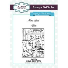 CREATIVE EXPRESSIONS und COUTURE CREATIONS Gummi stempel: Hjem Comforts