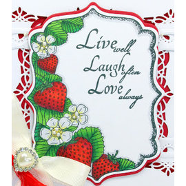 CREATIVE EXPRESSIONS und COUTURE CREATIONS Rubber stamp: Strawberry