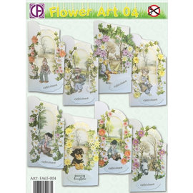 BASTELSETS / CRAFT KITS Card Set Flowerart for 8 cards!