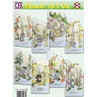 BASTELSETS / CRAFT KITS Kartenset: Flowerart für 8 Karten!