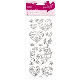 Sticker Autocollants Paintable: coeur Rose
