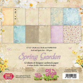 Designer Papier Scrapbooking: 30,5 x 30,5 cm Papier Designersblock 30,5 x 30,5 cm: Springtime