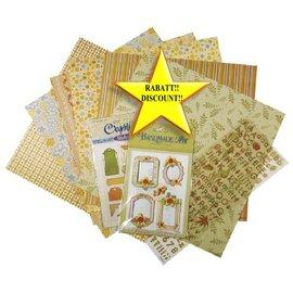 BASTELSETS / CRAFT KITS Scrapbooking Set: groen, oranje, bruin