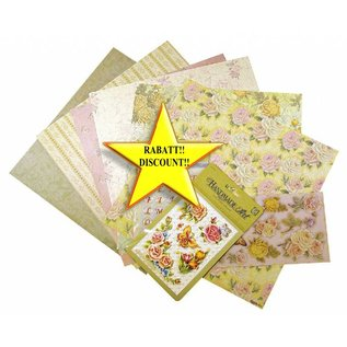 BASTELSETS / CRAFT KITS Scrapbooking Set: Romantisk Roses