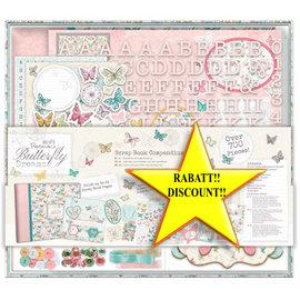 BASTELSETS / CRAFT KITS SONDERAKTION! 20% Rabatt wird im Warenkorb automatisch abgezogen! Scrapbooking MAXI SET, über 700 EMBELLISHMENTS / VERZIERUNGEN !! Butterfly Dreams - nur noch 1 Vorrätig!