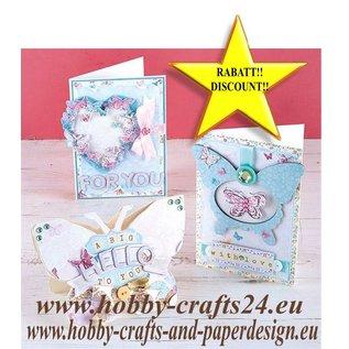 BASTELSETS / CRAFT KITS SÆRTILBUD! Scrapbooking MAXI SET, over 700 dekorationer / dekorationsgenstande !! Butterfly Dreams