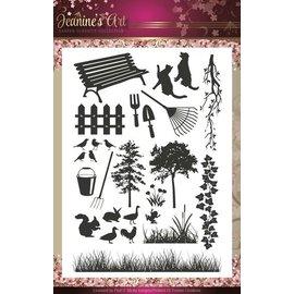 Stempel / Stamp: Transparent timbro trasparente: Arte di Jeannine - Giardino Classics