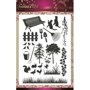 Stempel / Stamp: Transparent Transparant stempel Kunst Jeannine's - Garden Classics
