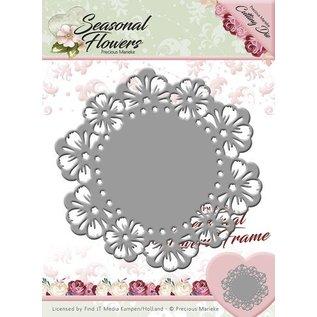 Precious Marieke Punching template: Flower frame