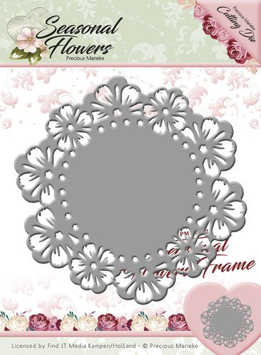 Precious Marieke Punching template: Flower frame - Hobby-Crafts24.eu ...
