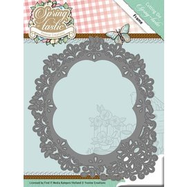 Yvonne Creations Punching template: Flower frame