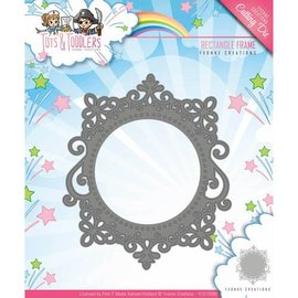 Yvonne Creations Punching template: decorative frame