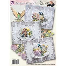 BASTELSETS / CRAFT KITS Compleet Bastelpackung: 3 mooie Cards