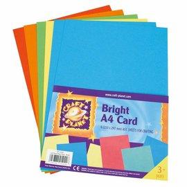 DESIGNER BLÖCKE / DESIGNER PAPER A4 Karton, Sortierte Leuchtfarben