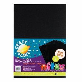DESIGNER BLÖCKE / DESIGNER PAPER 8 Bogen, A4 Karton, Schwarz