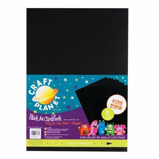 DESIGNER BLÖCKE / DESIGNER PAPER 8 bladen A4 karton, Black