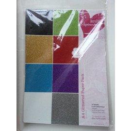 DESIGNER BLÖCKE / DESIGNER PAPER A4 papel da almofada Glitter