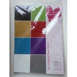 DESIGNER BLÖCKE / DESIGNER PAPER A4-papier pad Glitter