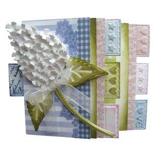 Joy Crafts, la découpe et gaufrage pochoir Mery pochoir fleur, bâtiment