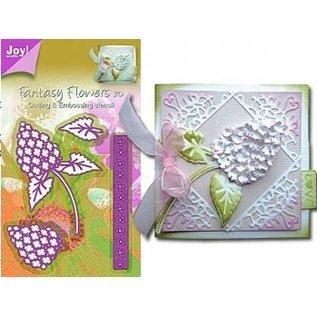 Joy Crafts, skæring og prægning stencil Mery stencil blomst, bygning