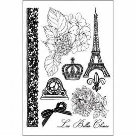 Prima Marketing und Petaloo Prima Marketing Cling Stamps En Francais
