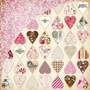 Designer Papier Scrapbooking: 30,5 x 30,5 cm Papier Kissing Booth, Heart breaker, Kis-3554, 30.5 x 30.5 cm