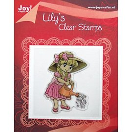 Clear stamps, Lily avec un arrosoir