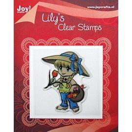 """Clear stamps, """"Lily avec un panier de tulipes"""""""