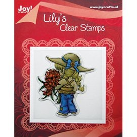 "Joy!Crafts / Jeanine´s Art, Hobby Solutions Dies /  Transparent-Stempel, ""Lily mit Blumen"","