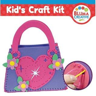 Kinder Bastelsets / Kids Craft Kits Craft Kit: Heart taske til børn.