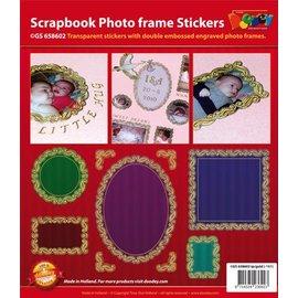 Sticker Plakboek, reliëf stickers, sierlijst