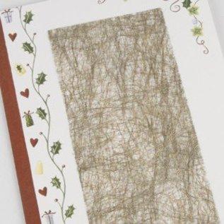 DESIGNER BLÖCKE / DESIGNER PAPER 1 blad fiber papir, 21x30 cm, guld, 31 g