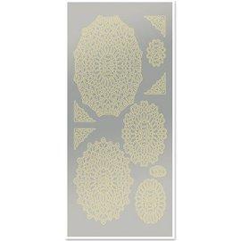 Sticker Autocollants, napperons, des ventilateurs, feuille d'or, miroir d'argent, la taille 10x23cm - Copy